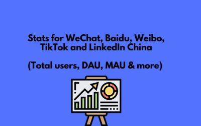 45+ Stats on WeChat, Baidu, Weibo, TikTok & more [2020]
