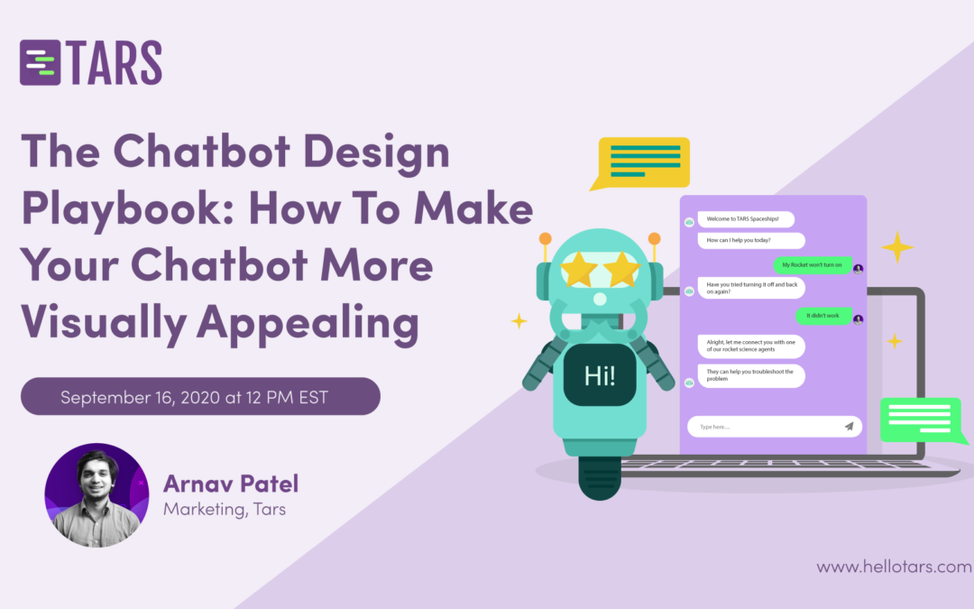 Chatbot Designing Webinar on 09/16 at 12 PM EST. Join And Learn How To Make Your Chatbot More Visually Appealing🔥