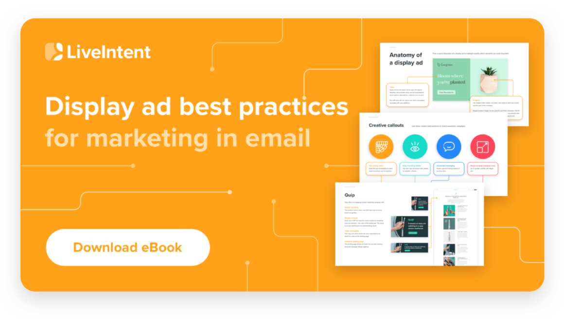 An image of our eBook, Display ad best practices for marketing in email