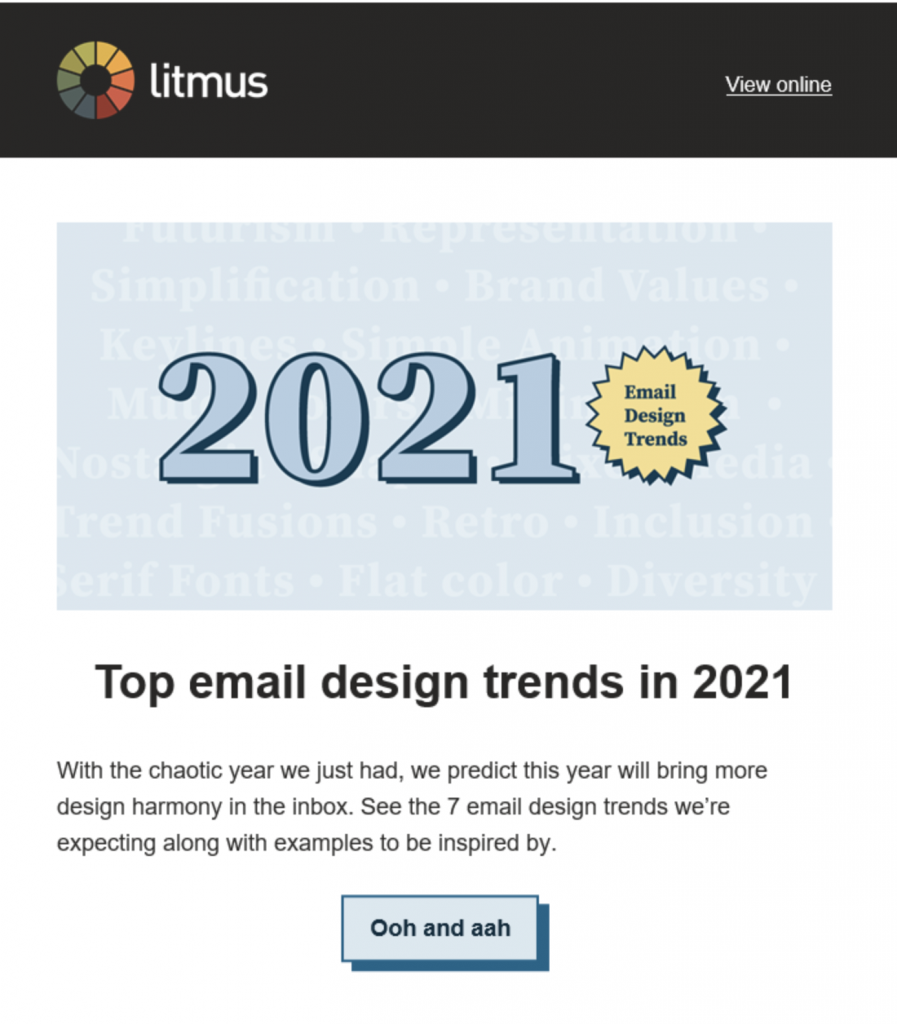 Email example with fun VML button