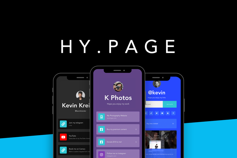 Hy.page: Generate Revenue from your Bio Link with Digital Products
