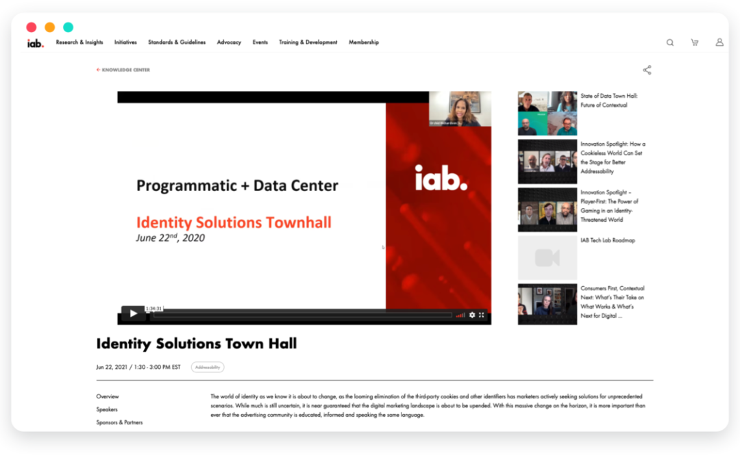 IAB's Identity solutions townhall: A recap