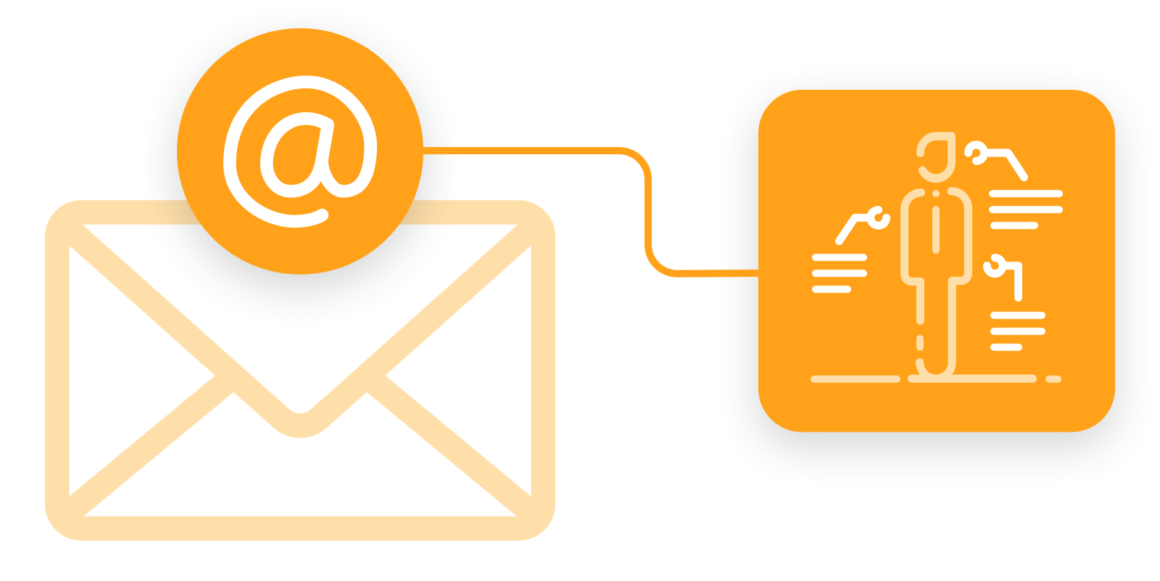 An email address connecting website behavior and activity to a single user